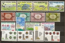 Kenya Uganda Tanganyika 4 Complete Sets MNH ** - Kenya, Uganda & Tanzania