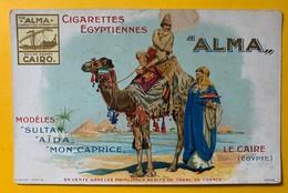 10217 - Publicité Cigarettes Egyptiennes ALMA   !! Petit Manque Sur Le Haut (casque) - Advertising