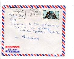 EGYPTE LETTRE AVION POUR LA FRANCE 1982 - Égypte