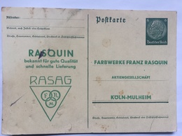 GERMANY Poskarte - `Farbwerke Franz Rasquin` - Briefe U. Dokumente