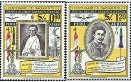Ref. 624856 * HINGED * - PERU. 1958. CENTENARY OF THE BIRTH OF DANIEL CARRION GARCIA . CENTENARIO DEL NACIMIENTO DANIEL - Perù