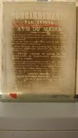 WWI NANCY BOMBARDEMENTS PAR AVIONS - AVIS DU MAIRE G. SIMON 22 JUIN 1916 - PLAQUE DE VERRE 12*9 CM - GUERRE - MILITAIRE - Plaques De Verre