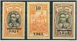 Oceanie (1921) N 44 à 46 * (charniere) - Oceania (1892-1958)
