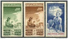 Oceanie (1942) PA N 4 à 6 * (charniere) - Oceania (1892-1958)