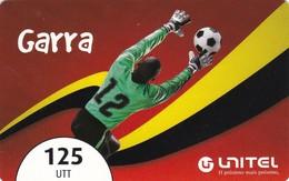 Angola, AO-UNI-REF-?, Unitel 125 UTT, Garra, Football, 2 Scans.  Expiry : 2013/12/31 - Angola