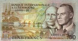 LUXEMBOURG 100 FRANCS 1981 PICK 14A UNC - Luxembourg