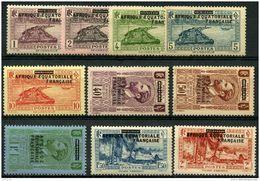 AEF (1936) N 17 à 26 * (charniere) - A.E.F. (1936-1958)