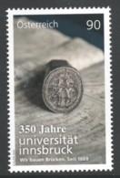 """Österreich 2019: """"350 Jahre UNI Innsbruck"""" Gestempelt - 1945-.... 2. Republik"""