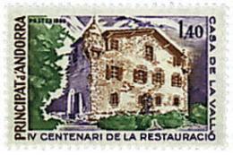 Ref. 46052 * NEW *  - ANDORRA. French Adm. . 1980. 4th CENTENARY OF THE RESTAURATION OF THE 'CASA DE LA VALL'. 4 CENTENA - Ungebraucht