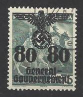 Germania - Generalgouvernement - 1940 - Usato/used - Overprint - Mi N. 26 - Bezetting 1938-45