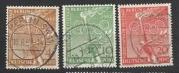 Germania - Berlino - 1952 - Usato/used - Olympic Games - Mi N. 88/90 - [5] Berlin
