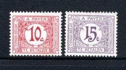 BEL. CONGO TX67/68 MH 1923 - Groot Gekleurd Cijfer In Witte Cirkel - Postage Due: Mint/hinged Stamps
