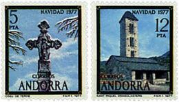 Ref. 46145 * NEW *  - ANDORRA. Spanish Adm. . 1977. CHRISTMAS. NAVIDAD - Ungebraucht