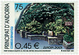 Ref. 77065 * NEW *  - ANDORRA. Spanish Adm. . 2001. EUROPA CEPT. WATER; A NATURAL TREASURE. EUROPA CEPT. EL AGUA; RIQUEZ - Spanisch Andorra