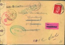 1943, Brief Ab BUCHHOLZ (SACHSEN) Zum Europaporto Nach Viborg, Dänemark Mit Zensur Retour - Allemagne