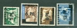 Autriche  Yvert  539/542  Ou  Michel  664/667  Ob  B/TB  Voir Description - 1945-.... 2. Republik