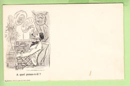 TOURS - Publicité CREMIEUX - Belle Carte Illustrateur Avec énigme à Résoudre : à Quoi Pense Il ?  - Dos Simple - 2 Scans - Advertising