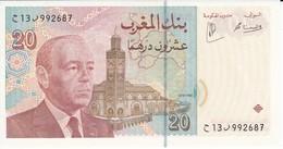 BILLETE DE MARRUECOS DE 20 DIRHAMS DEL AÑO 1996  (BANKNOTE-BANK NOTE) SIN CIRCULAR-UNCIRCULATED - Marokko