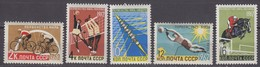 Russia, USSR 27.06.1962 Mi # 2611-15; World Summer Championships,1962 FIFA World Cup, ChileMNH OG - Nuevos