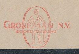 Meter Cover Netherlands 1950 Caveman - Hengelo - Preistoria