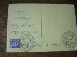 1952 La Chaise Dieu 9 Eme Centenaire Abbaye Obliteration Carte - 1921-1960: Modern Tijdperk