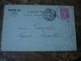 Cpa 95 Carte Publicite Guissez Elie Alcool Et Charbons Persan - Persan