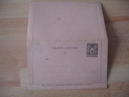 Sage 25 C Gris Carte Lettre Entier Postal Piquage B - Entiers Postaux