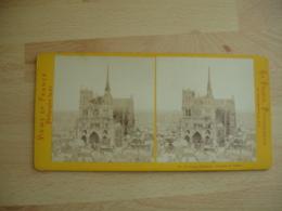 Photo Stereoscopique  Cathedrale Amiens  Vue Generale - Stereoscopic