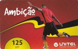 Angola, AO-UNI-REF-?, Unitel 125 UTT, Ambicao, Football, 2 Scans.  Expiry : 2012/12/31 - Angola