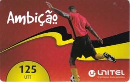 Angola, AO-UNI-REF-?, Unitel 125 UTT, Ambicao, Football, 2 Scans.  Expiry : 2013/12/30 - Angola