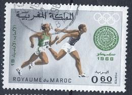 JO Mexico Maroc - Marokko - Morocco Y&T N°576 - Michel N°639 (o) - 60c Course à Pied - Sommer 1968: Mexico