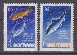 Russia, USSR 28.08.1962Mi # 2640-41; Fish MNH OG - Nuevos