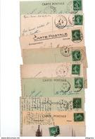 TIMBRE TYPE SEMEUSE CAMEE..10c VERT .....VOIR DETAIL......LOT DE 390 SUR CPA.....VOIR SCAN......LOT 127 - 1906-38 Semeuse Camée