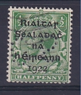 Ireland: 1922   KGV OVPT    SG1    ½d    Used Perfin - Used Stamps