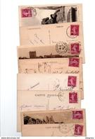 TIMBRE TYPE SEMEUSE CAMEE..20c LILAS ROSE.....VOIR DETAIL......LOT DE 1000 SUR CPA.....VOIR SCAN......LOT 125 - 1906-38 Semeuse Camée