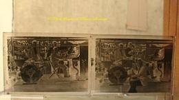 PYRENEES ORIENTALES GROUPE BILLY JAZZ PUB ROMANO COCKTAIL - LOT DE 2 - PLAQUE DE VERRE 9*6.5 CM - Plaques De Verre