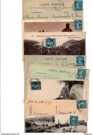 TIMBRE TYPE SEMEUSE CAMEE..25c BLEU......VOIR DETAIL......LOT DE 100 SUR CPA.....VOIR SCAN......LOT 128 - 1906-38 Semeuse Camée