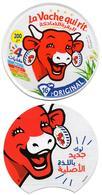 "2 ETIQUETTES FROMAGE LABEL CHEESE ""La Vache Qui Rit""  16 Portions - New Look 2020 - Etiketten N° 76041871 Labels - Fromage"