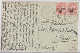 Alexandrie (Egypte Egypt) - Bel Affranchissement Paire Timbres Surcharge Colonies Type Blanc Trois Centimes Timbre Stamp - Lettres & Documents