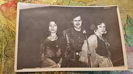 Original Photo Ancienne -  USSR -  Zigeuner, Gitan - Typical Gypsy Life In Russia, Soviet Time 1970s Music Band - Ethniques, Cultures