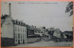 CARTE MORLAIX - 29 - LE CHAMP DE FOIRE ET LA BRASSERIE DU POULIET - SCAN RECTO/VERSO-13 - Morlaix