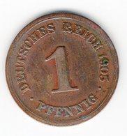 58 - 1 Pfennig - 1905 - F - 1 Pfennig