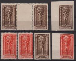 Exposition Philatelique 1925 - Lot De 7 Vignettes Neuves (legers Defauts Mais Aspect TB) - Commemorative Labels
