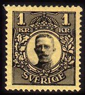 1919. Gustav V. 1 Kr. Black, Yellow (Michel 83) - JF100932 - Neufs