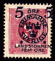 1916. Landstorm II. 5+Fem Öre On 3 Ö. Rose. Beautiful Centered With Variety: Misplace... (Michel 98) - JF101037 - Neufs
