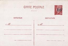 20665# ENTIER POSTAL PETAIN 1.20 Franc BRUN CARTE POSTALE D4 SURCHARGE RF TIRAGE D' ORLEANS LOIRET LIBERATION - Entiers Postaux