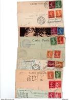 TIMBRE TYPE SEMEUSE CAMEE + DIVERS.......VOIR DETAIL......LOT DE 100 SUR CPA.....VOIR SCAN......LOT 16 - 1906-38 Semeuse Camée