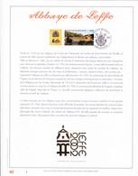 Exemplaire 1 Feuillet Tirage Limité 500 Exemplaires Frappe Or Fin 23 Carats 3073 Abbaye De Leffe Dinant - Feuillets