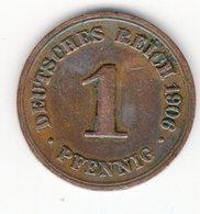61 - 1 Pfennig - 1906 - F - 1 Pfennig