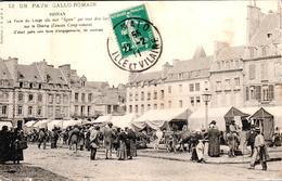 Carte 1910 DINAN / FOIRE DU LIEGE SUR LE CHAMP DE FOIRE - Dinan